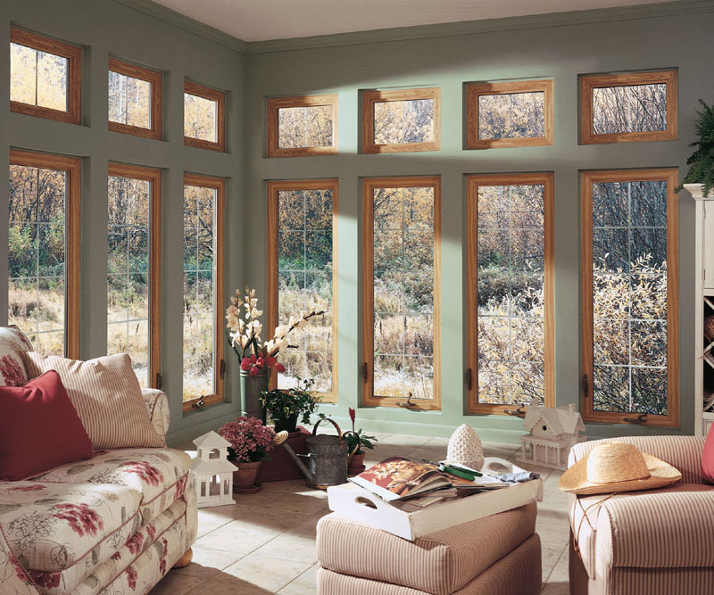 Casement Windows in Family Room